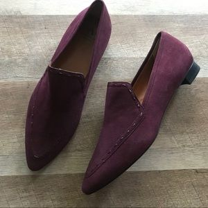 Aquatalia Burgundy Weatherproof Loafer